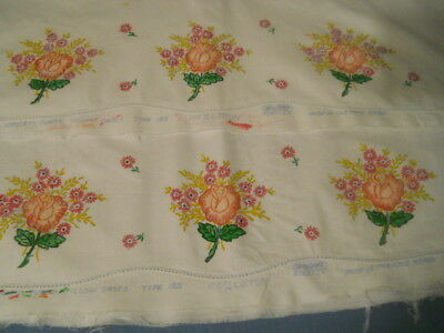 Pair Hand Painted Seamless Cotton Pillowcases Vintage Pride Of The Home Unused