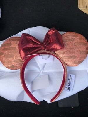 Disney Parks Epcot Food And Wine Festival 2018 Mickey Minnie Ears Headband