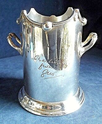 SMART Large ~ SILVER Plated ~ BOTTLE / Cutlery COASTER ~ c1925 by John Turton