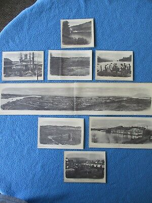 8 1958 Civil War Prints of Chattannoga, Tennessee, Lookout Mtn, Missionary Ridge
