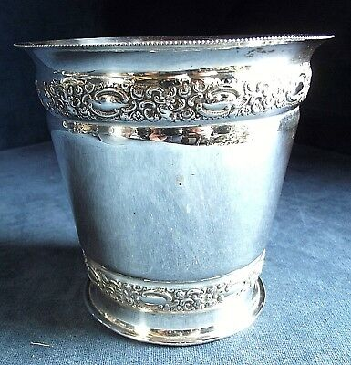 GOOD Ornate Petite ~ SILVER Plated ~ ICE Pail / JARDINIERE ~ c1900 by Marples