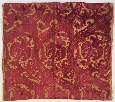 Beautiful Rare 19th C. French Silk Velvet Jacquard Fabric  (2442)