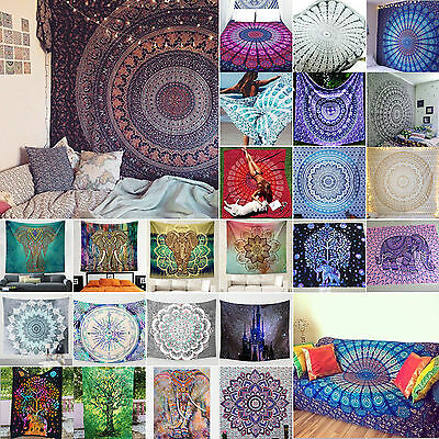 Square Indian Tapestry Mandala Wall Hanging Beach Throw Hippie Bedspread Dec New