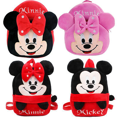 Toddler Kids Mickey Minnie Schoolbag Baby Girls Boys Backpack Book Shoulder Bags