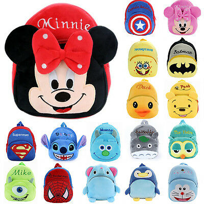 Toddler Kids Baby Boys Girls Mini Backpack 3D Cartoon Small School Shoulder Bags