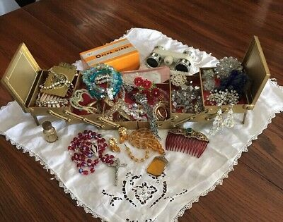 Huge Vtg & Antique Art Deco Rhinestone Jewelry + LOT Sparkling Lovely