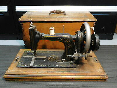 RARE - Antique Wertheim Superba SYST-182 Hand Crank Sewing Machine w ATTACHMENTS