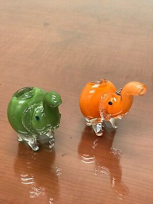 Elephant Collectible TOBACCO Smoking Pipe Herb Glass Hand Pipes Bowl
