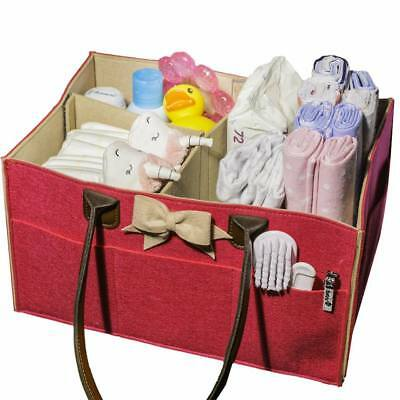 Baby Girl Pink Diaper Caddy Newborn Shower Gift Large in Size Perfect Basket NIB