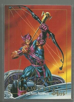 2016 Upper Deck Marvel Masterpieces Hawkeye 1992 Buyback Jusko Autograph #ed 15