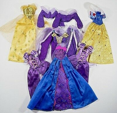 Lot of 7 BARBIE Doll Clothes Sparkly Party Princess Dress Gown Genie Pant Outfit