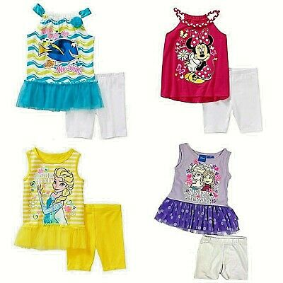 Disney Minnie Mouse Dory Nemo Frozen Girls'  Baby  Toddler  Bike Short Sets NWT