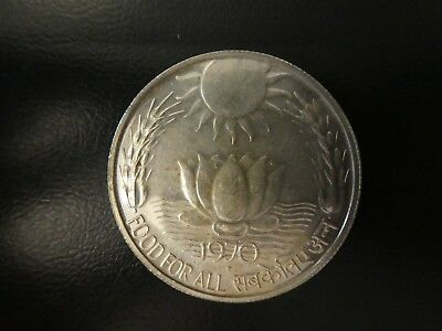 Indien 10 Rupees 1970 F.A.O. Silber