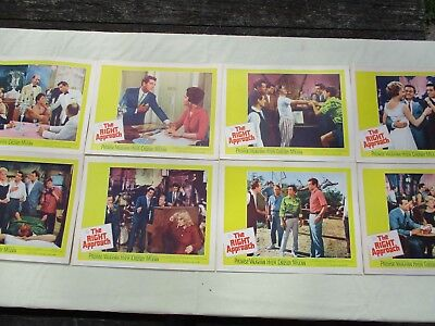 Vintage Original 1961 The Right Approach Movie Lobby Cards - Lot of 8