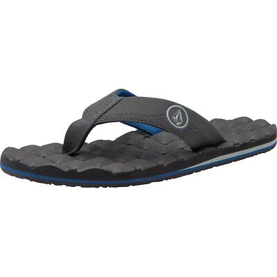 buy online cae22 aad69 Volcom Recliner Homme Chaussures Tongs - Black White Toutes Tailles