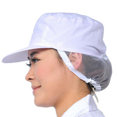 1X Women White Catering Hat Chef Bakers Bouffant Cap Food Hygiene Snood Cap #WE9