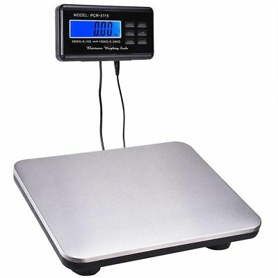 660 lb Digital Bench Scale Stainless Steel Platform Post Office Electronic Scale