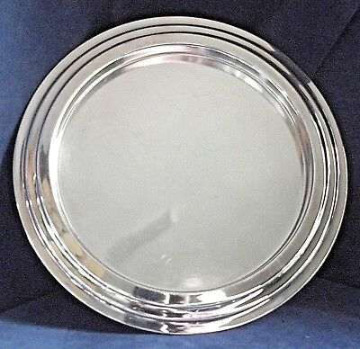 "SUPERB.Large 12"" ~ SILVER Plated ~ ART DECO ~ Cocktail TRAY ~ c1935 Barker Ellis"