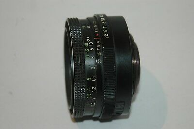 Carl Zeiss Jena Ddr Tessar  F/2.8  50  Mm Prime Lens.  M42 Screw Fitting.