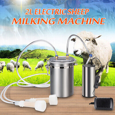 2L 0.5 Gal 2 Teats Goat Milker Electric Sheep Milking Machine Stainless Steel