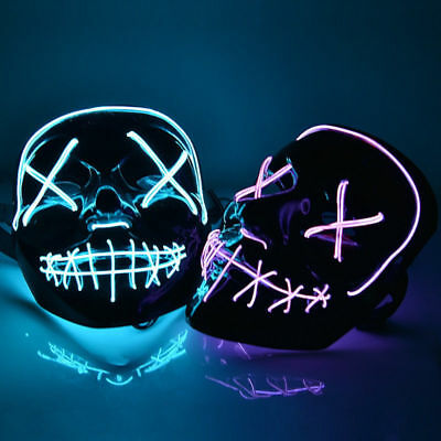 LED Light Mask Up Funny Mask The Purge Election Year Great for Cosplay Xmas Gift