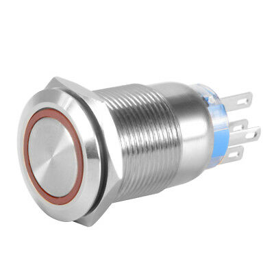 19mm LED Electronic Switch Lighted Metal Push Button Car Air Horn Switch BI1034