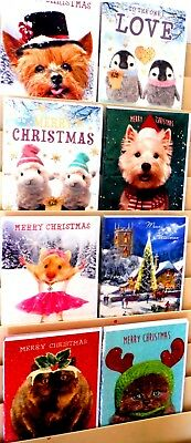 """20p! SEE THIS.... SUPER SIZE CHRISTMAS CARDS X 150, 9"""" x 13"""" by TRACKS 8 DESIGNS"""