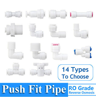 1/4'' Reverse Osmosis RO Tap Connector Push Fit Pipe Water Filter Connector