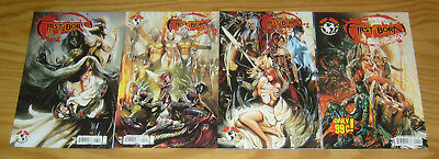 First Born #1-3 VF/NM complete series + first look - all B variants - witchblade