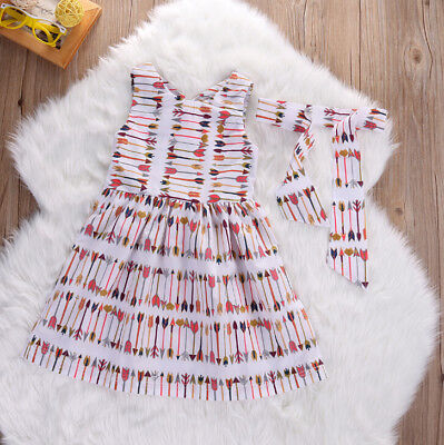 Toddler Girl's Dress with Arrows Size 2-7Y (Free Shipping)