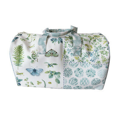 Large Canvas Butterfly and Floral Print Holdall Bag, Suitable for Travel