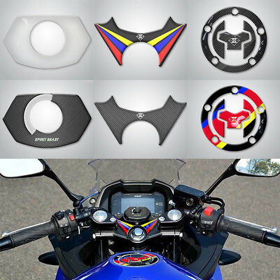 Motorcycle Gel Oil Gas Fuel Tank Pad Protector Sticker Decal For Suzuki GSX250R