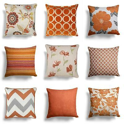 """Orange Spice Terracotta Cushion Covers Collection 17"""" / 18"""" 43cm / 45cm Cover"""