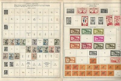 Indo-China Stamp Collection 1892-1945 on 8 Minkus Pages, French Colony