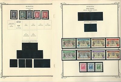 Albania Stamp Collection 1913-1960 on 35 Scott Specialty Pages