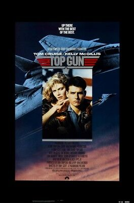 TOP GUN MOVIE POSTER, USA Version, (Size 24 x 36)