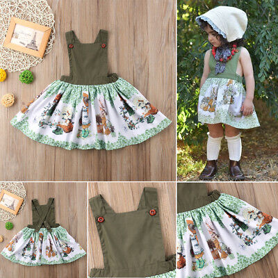 Girl's Toddler Vintage Style Sleeveless Dress Size 3T-7 Years (Free Shipping)