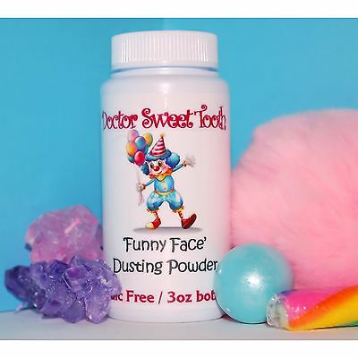 FUNNY FACE Handmade Scented Body Dusting Powder TALC FREE 3oz