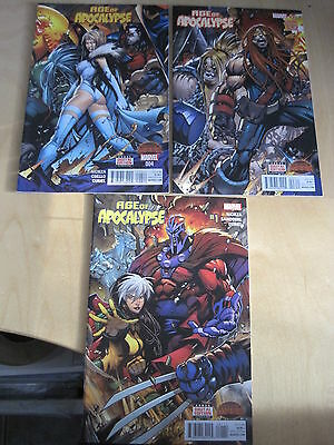 AGE of APOCALYPSE  #s 1, 3, 4. Featuring The X-MEN. 1st PRINTS. MARVEL. 2015
