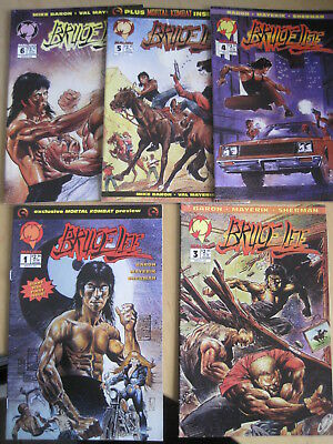 BRUCE LEE issues 1,3,4,5,6 ( of 6 issue series) by Baron & Mayerik. Malibu, 1994
