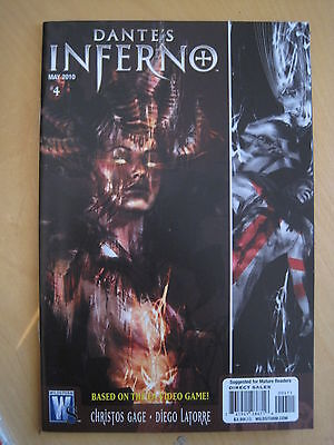 DANTE'S INFERNO  4  by GAGE & LATORRE. BASED ON THE VIDEO GAME. WILDSTORM. 2010