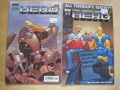 HERO SQUARED #s 1 & 2 by GIFFEN & DEMATTEIS. BOOM.2008