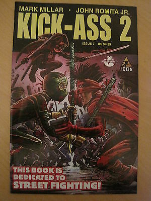 KICK - ASS  2  #  7  by MARK MILLAR & JOHN ROMITA JR.  ICON. 2011