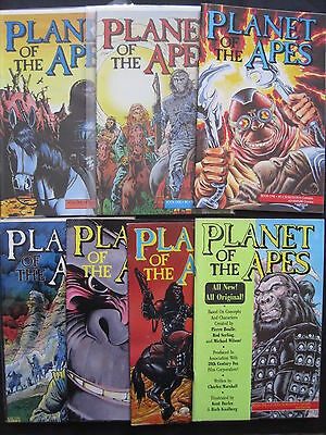 PLANET of the APES : ISSUES 1,2,3,4,5,6,7 of 1990 SERIES. MALIBU