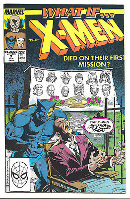 What If Vol. 2 # 9 Marvel Comics 1990 The X-Men Died On Their First Mission ?