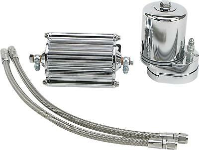 Feuling Oil Cooler Filter Kit Chrome 2000