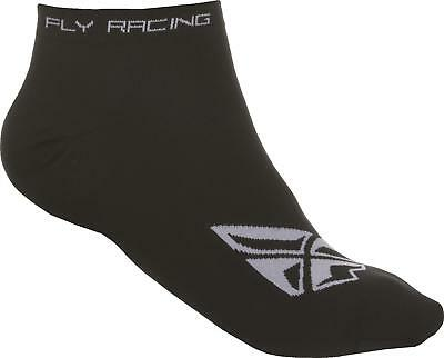 Fly Racing No Show Sock Black/white S/m 350-0390S