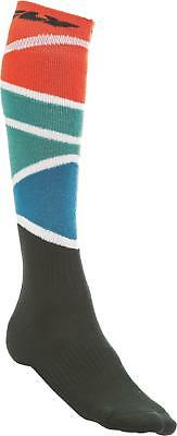 Fly Racing Mx Sock Thick Red/blue/black S/m 350-0421S
