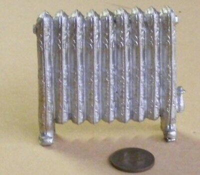 1:12 Scale Silver Coloured Antiqued Non Working Radiator Tumdee Dolls House 330