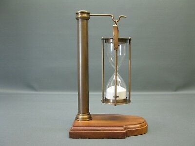 Nautical Maritime Brass Hourglass Antique Style 5 Minutes Bell Clock Sand Timer